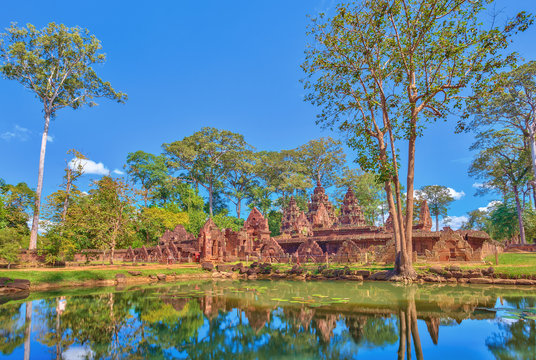 Banteay Srei or Lady Temple at Siem Reap Cambodia