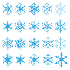 VECTOR SNOWFLAKE SET