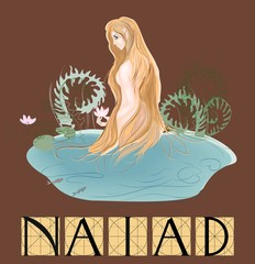 Naiad  with title