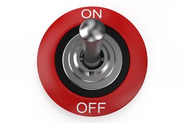 round metallic switch