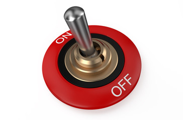 round red metallic switch
