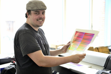 Graphic designer working on a creative project