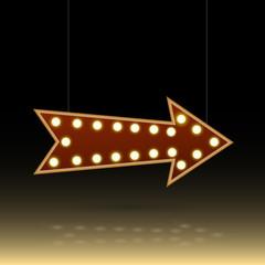 Arrow Bulb Sign