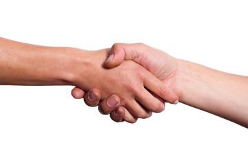 Abgemacht, Händedruck zum Vertragsabschluss