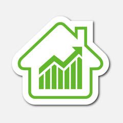 Logo maison et dépenses.