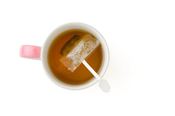 In de dag Thee cup of tea with teabag