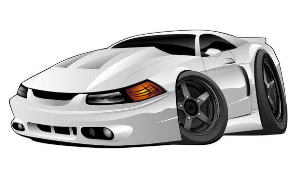 Modern American Muscle Car Vector Illustration