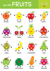 Kids Basic Fruits Chart