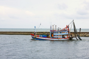 Colourful fisherman boat