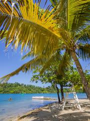 Strand an der  Erol Flynn Marina, Port Antonio Jamaika