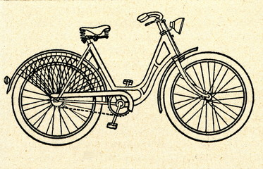 Bicycle with a step-through frame (women's bicycle)
