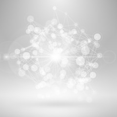 Wireframe Polygonal Element. Abstract 3D Object