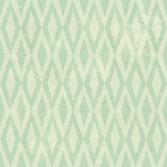 Seamless Vintage Rhombus Pattern. With Grunge Textured Backgroun