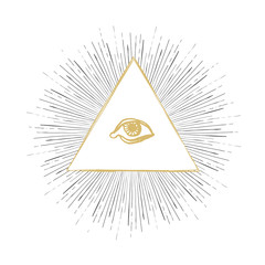 All Seeing Eye Illustration