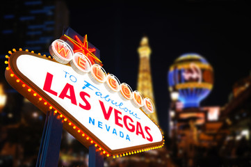 Aluminium Prints Las Vegas Welcome to Fabulous Las Vegas Neon Sign