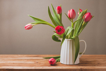 Tulip flower bouquet for Mother's Day celebration