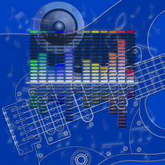 musical design equalizer and guitar