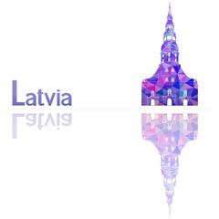 symbol of Latvia, vector illustration