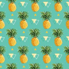 Fond d& 39 ananas géométrique - Modèle sans couture dans le vecteur