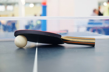 Racket for tennis and a ball