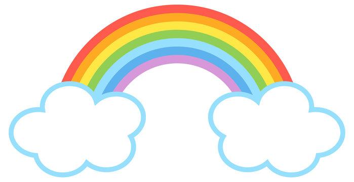シンプル可愛い虹