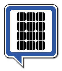 Logo panneaux solaires.