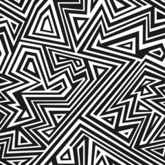 monochrome aztec seamless pattern