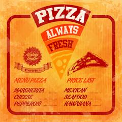 vintage box pizza menu