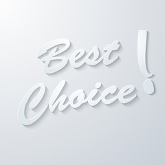 Best choice paper vector background