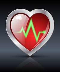 Heart diagnostics icon 2