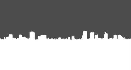 Vector Silhouette of City Buildings. Landscape, View, Panorama.