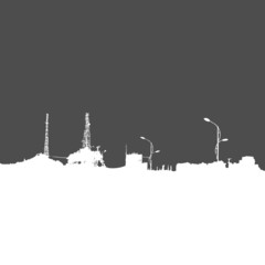 Vector Silhouette of City Buildings