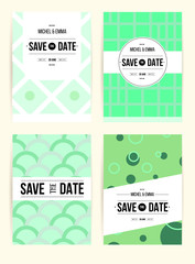 abstract cards with date