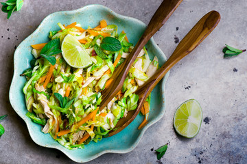 Vietnamese cabbage salad.