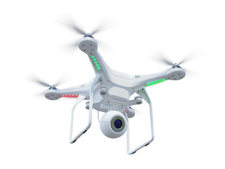 Drone isolated on white background