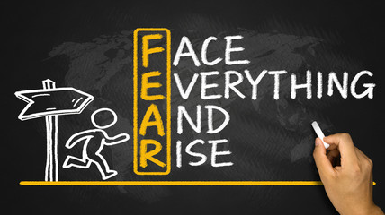 fear means face everything and rise Wall mural