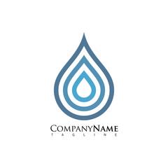 water drop vector logo icon