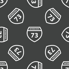 Sign Interstate 73 pattern