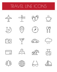 travel line icons.vector/eps10.