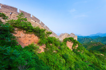 Wall Mural - Great wall under sunshine during sunset