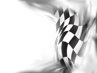 race flag  background vector illustration Fototapete