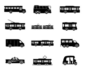 Vector icons. Public transport.