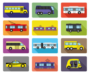 Vector icons. Public transport.