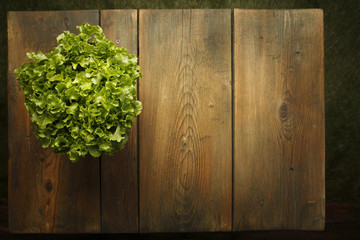 Fresh Green slate on picnic table