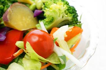 黄緑野菜のサラダ