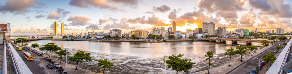 Panorama of Recife in PE, Brazil
