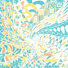 Abstract doodle background. Zentagle. Spiral.