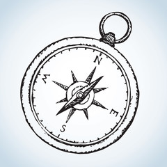 Compass. Vector drawing