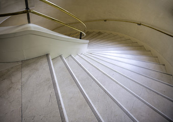 Foto op Plexiglas Trappen the turning marble stairs