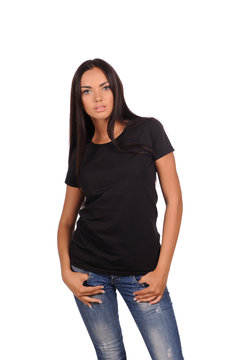 pretty girl in the black shirt